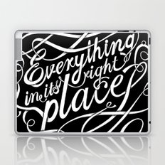 Everything in it's right place Laptop & iPad Skin