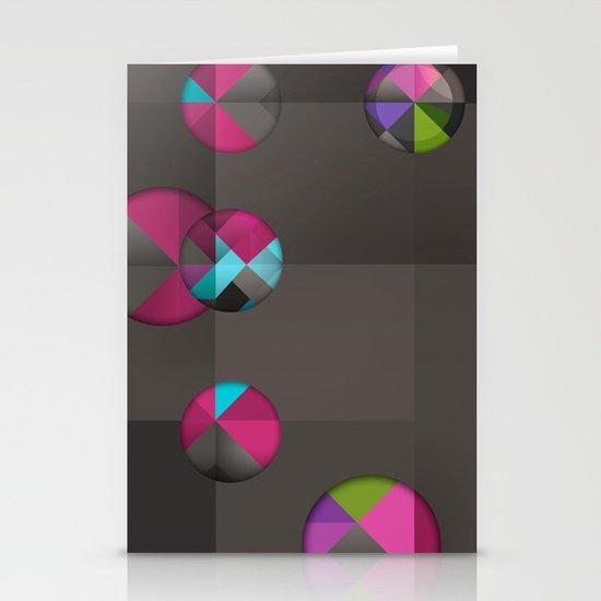 optical illusion black Stationery Card