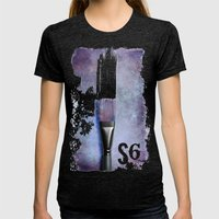 S6  Womens Fitted Tee Tri-Black SMALL