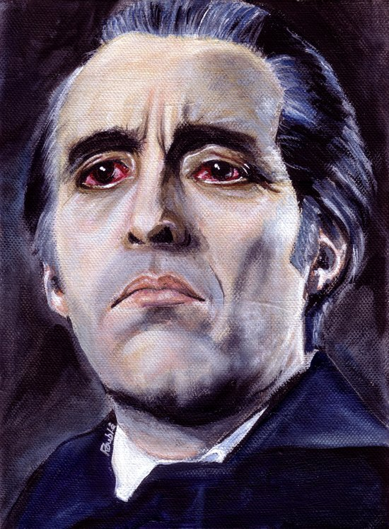 Christopher Lee as Dracula: He is the embodiment of all that is evil. Art Print