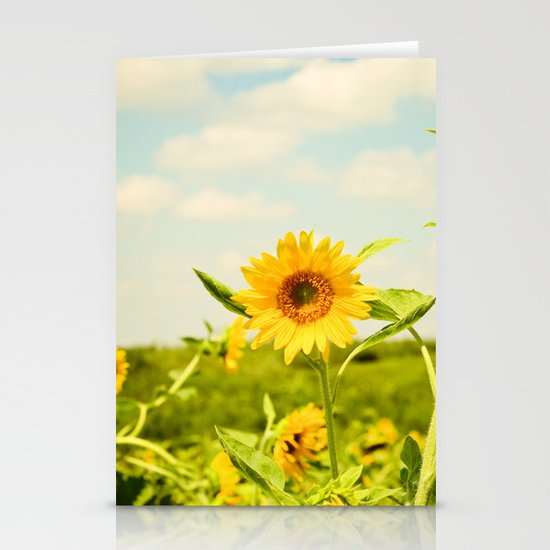 Yellow Stationery Card