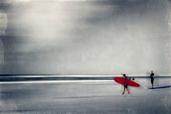 red surf board Canvas Print