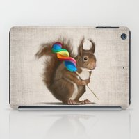 A Funny Squirrel With A … iPad Case