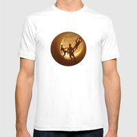 Football Mens Fitted Tee White SMALL