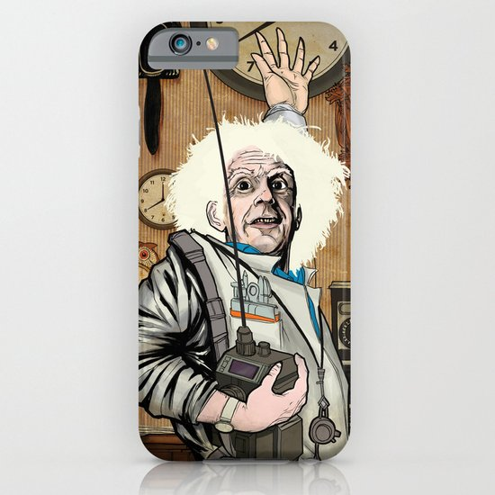Doc Brown in His Element iPhone & iPod Case