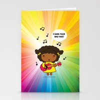 I Love Rock N' Roll Stationery Cards