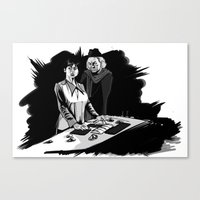 1rst Doctor & Susan... Canvas Print