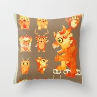Role Call Throw Pillow