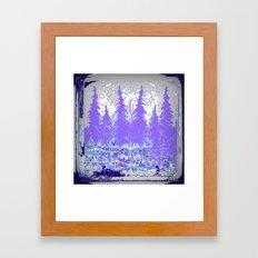 Abstracted Purple Winter Forest Landscape Framed Art Print