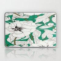green peonies Laptop & iPad Skin