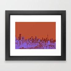 TORONTO CITY II Framed Art Print