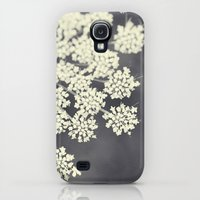 Galaxy S4 Cases featuring Black and White Queen Annes Lace by Erin Johnson