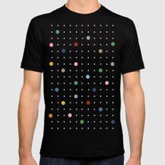 Pin Points on Back Mens Fitted Tee Black SMALL