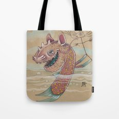 SWIMMING WITH PUPPETS Tote Bag