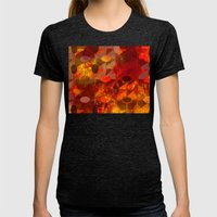 Scorched Earth. Womens Fitted Tee Tri-Black SMALL