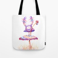 In The Land Of Magic Mushrooms Tote Bag