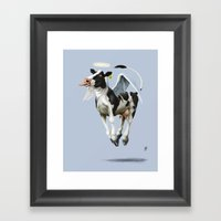 Holy Cow (colour) Framed Art Print