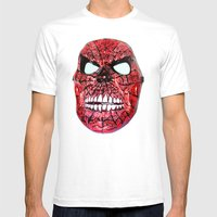 Spidey Skull Mens Fitted Tee White SMALL