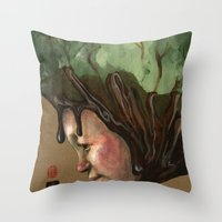 Ice Cream , Nature, and Life Throw Pillow