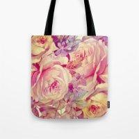 soft vintage roses Tote Bag