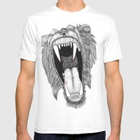 Roar! Mens Fitted Tee White SMALL