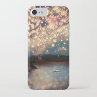 hand iPhone & iPod Cases featuring Love Wish Lanterns by Paula Belle Flores