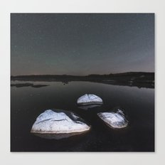 Boulders In Black Canvas Print