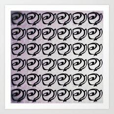 Rows of Flowers, Purple Art Print