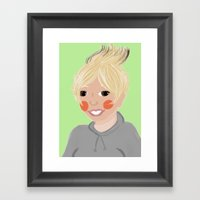 Female Cockatiel Framed Art Print