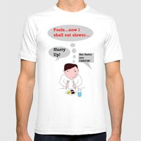 Slow Eating Elf Mens Fitted Tee White SMALL