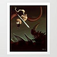 Slay The Dragon! Art Print