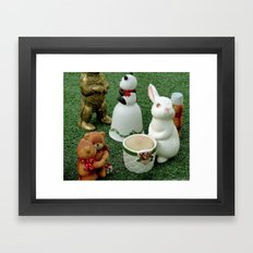 Party on the Lawn! Framed Art Print