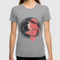 Art Nouveau Goddess Womens Fitted Tee Tri-Grey SMALL