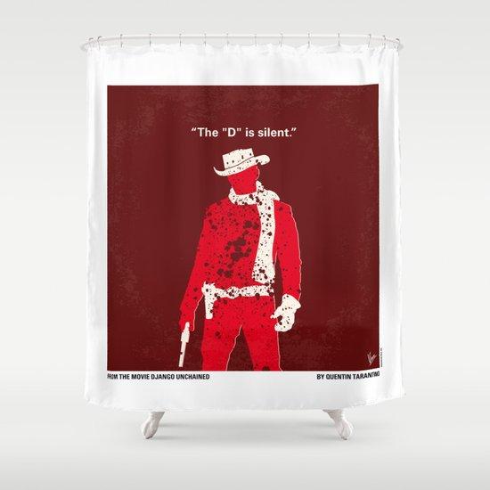 No184 My Django Unchained minimal movie poster Shower Curtain