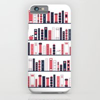 iPhone & iPod Case featuring Shelves of Books Stylized by Thomas Ramey
