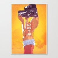 Paparazzi Love Canvas Print