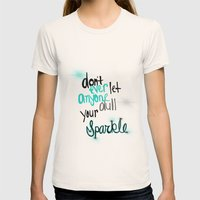 Unique Sparkle Womens Fitted Tee Natural SMALL