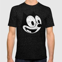 Felix The Cat 2 Mens Fitted Tee Tri-Black SMALL
