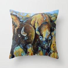 Spring Buffalo Throw Pillow