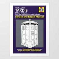 Tardis Service and Repair Manual Art Print