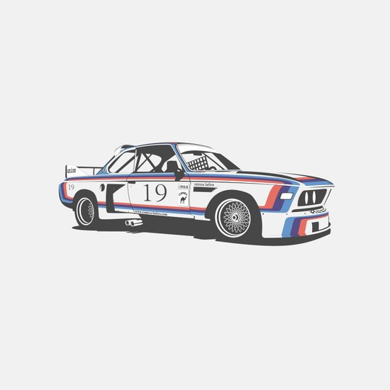 BMW CSL Turbo Art Print