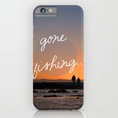 Gone fishing with dad iPhone 6 Slim Case