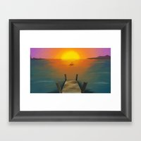 Fisherman Framed Art Print