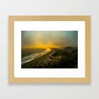 The Evening As Seen From… Framed Art Print