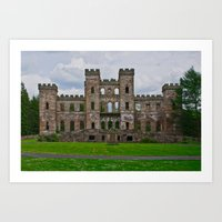Loudoun Castle Ruin  Art Print