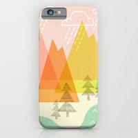iPhone & iPod Case featuring Raindrop Valley by Jenny Tiffany