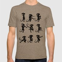 Ministry of Alien Silly Walks Mens Fitted Tee Tri-Coffee SMALL