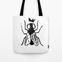 Fly Linocut Tote Bag