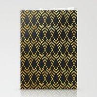 Art Deco Diamond Teardop… Stationery Cards