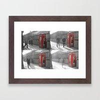 The Red Box Framed Art Print